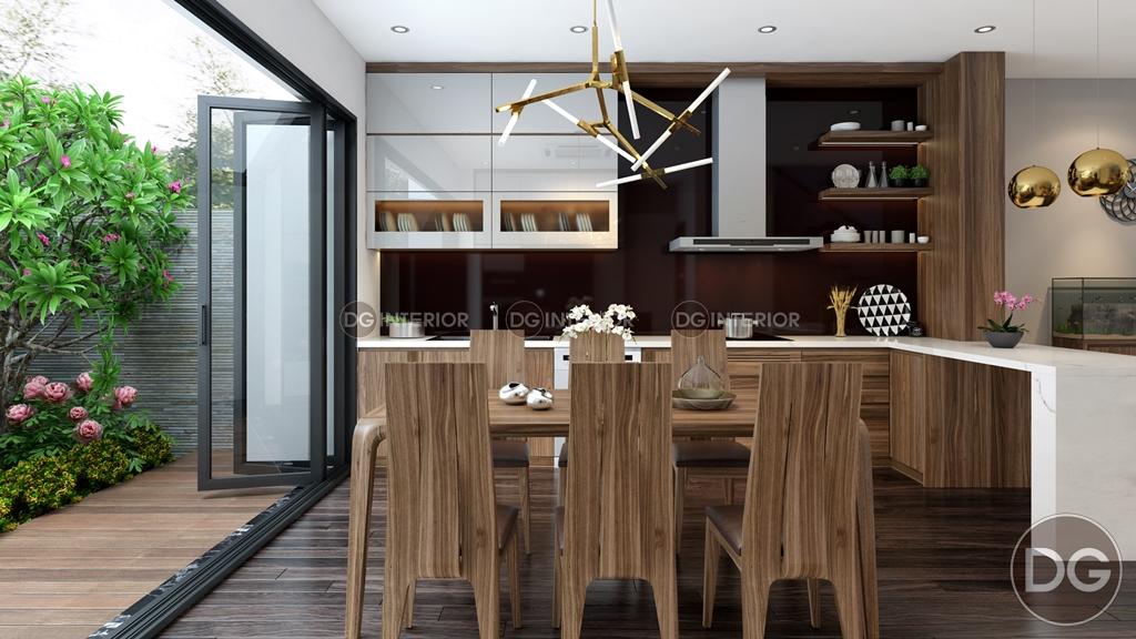 Thiết kế phòng bếp biệt thự Garmuda 3