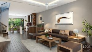 Thiết kế phòng khách biệt thự Garmuda 2