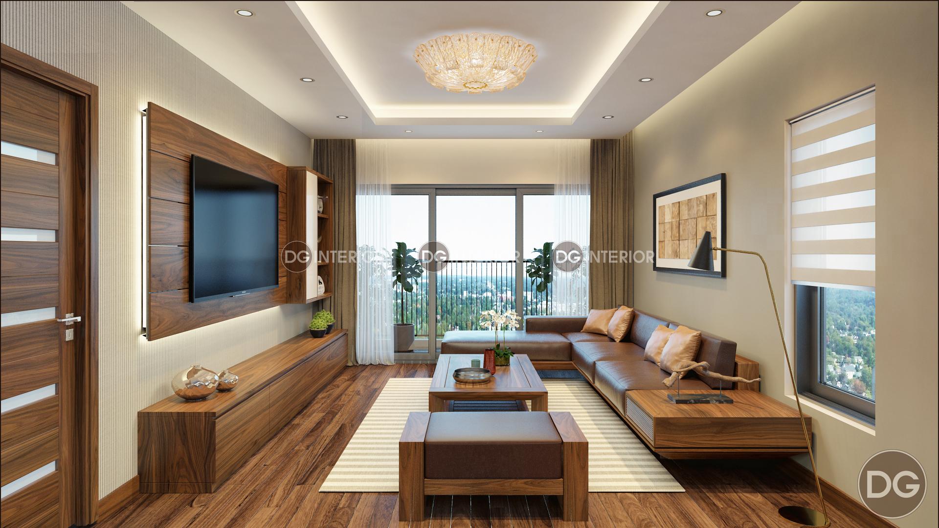 thiết kế nội thất phòng khách biệt thự Ecopark