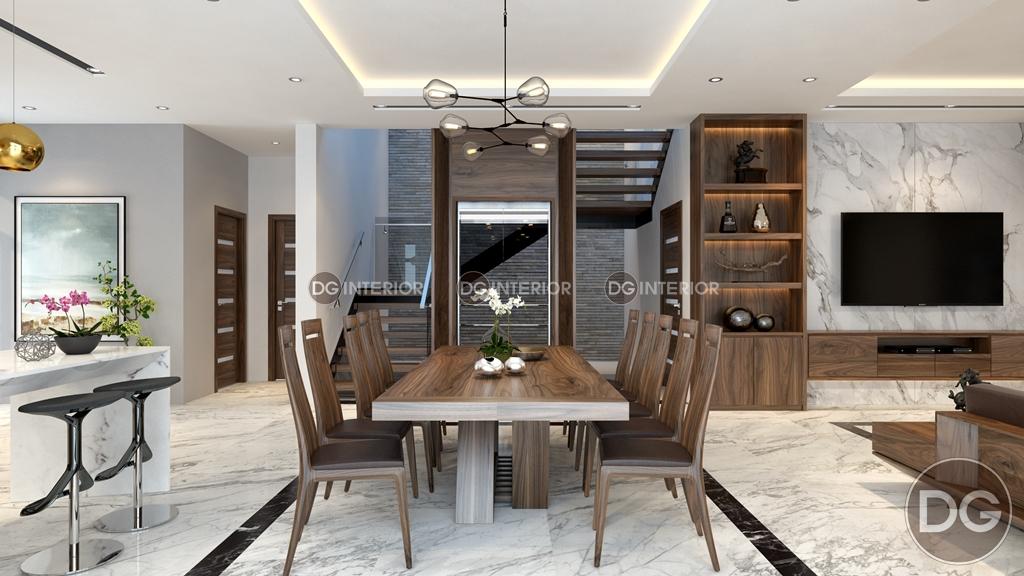 nội thất phòng ăn bằng gỗ