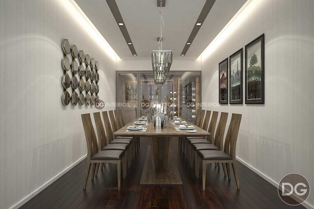 phòng ăn bằng gỗ