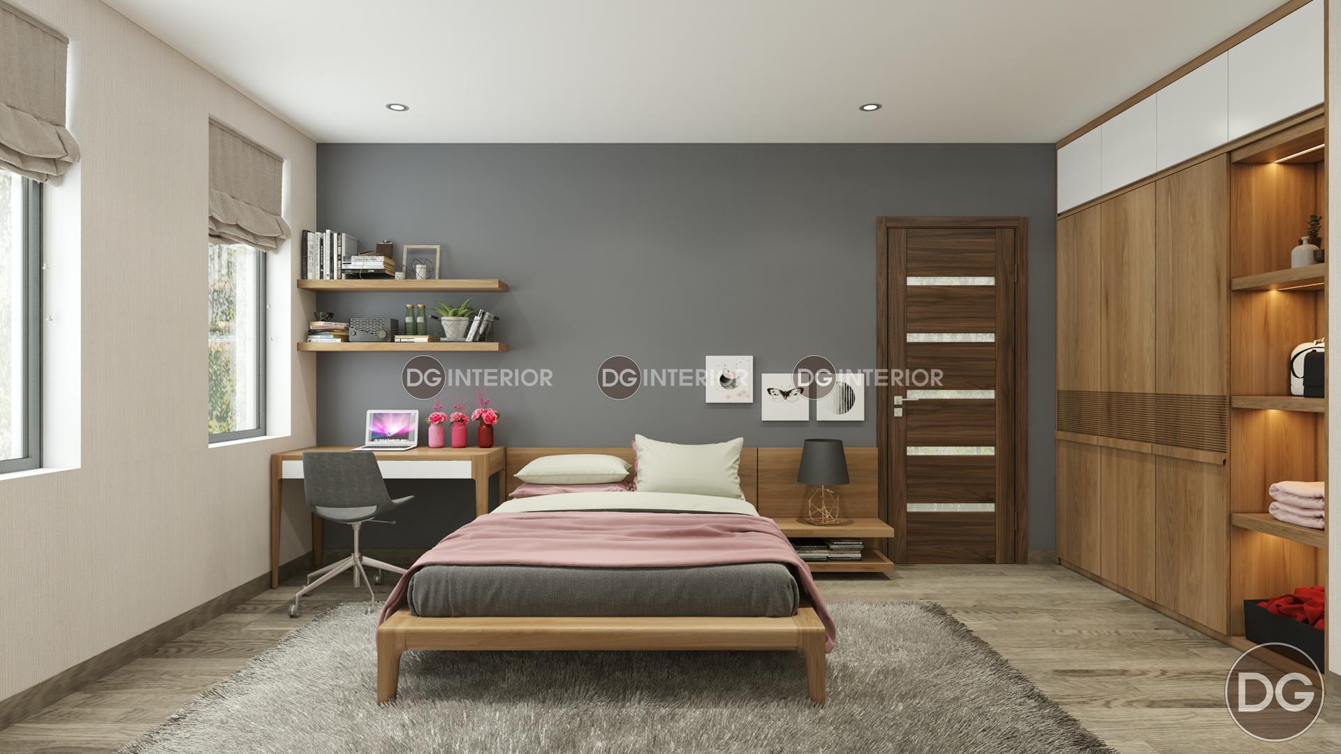 Thiết kế phòng ngủ-biệt thự Tây Hồ Tây